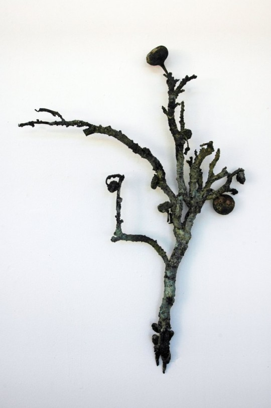 I Draw what's left Over (installation detail (II)) 2010<br />Bronze 47cm (H) x 37cm (W) x 4cm (D) <br />Photographer Paul Litchfield