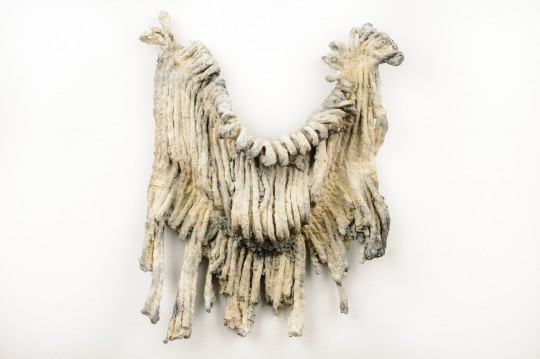 The Petrified Poem - Installation detail (Mop) <br />2013 Bronze 28cm (H) x 26cm (W) x 4cm (D)<br />Photographer Rowan Conroy