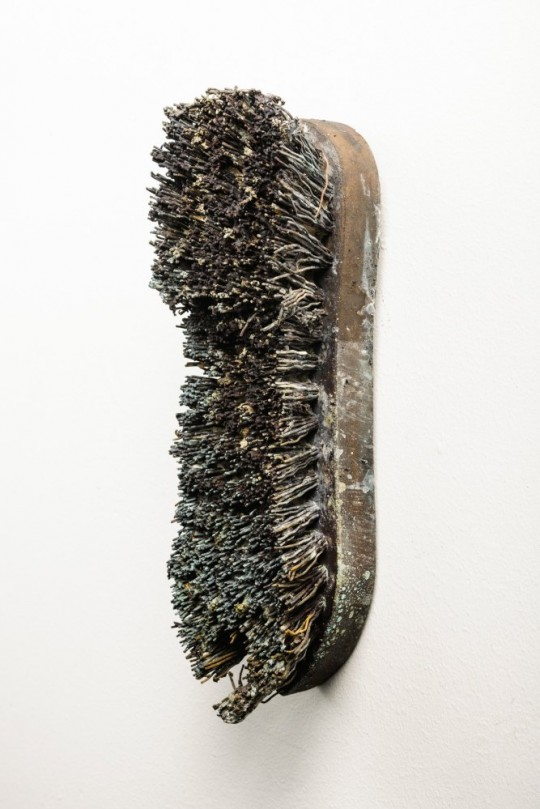 The Petrified Poem:  Installation detail (Brush) <br />2013 Bronze 19cm (H) x 7cm (W) x 9cm (D)<br />Photographer Rowan Conroy