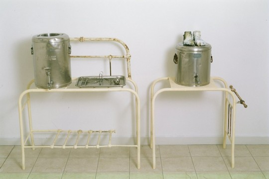 Waiting - (2001) (installation detail) (Urn)<br />Bronze and Found objects - variable sizes<br />Photographer Michael Young